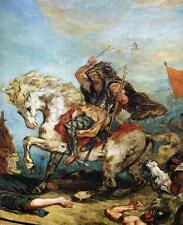 Attila the Hun & His Hoardes Overun Italy Delacroix Barbarians 6x5 Inch Print