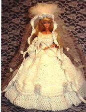 CROCHET FASHION DOLL PATTERN-ICS DESIGNS-12 CHRISTMAS WEDDING GOWN