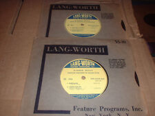 33RPM 2 Lang-Worth by Bach, Sarasate, Ganne, Grieg, Haydn, Liszt, Lemare E-