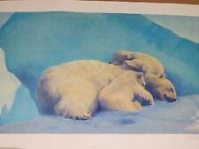 """Fred Machetanz """"When Three's a Crowd"""" Limited Edition Alaskan Artist Lithograph"""