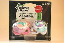 Tommee Tippee Essential Basics Glow in the Dark Soothers 6-12m for Girls