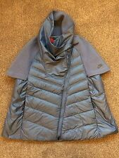 Nike Women's Tech Fleece AeroLoft Running Cape Jacket Coat RRP £250 Blue Small S