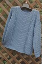 NATURALLE PULLOVER Sarah James Knitting Pattern WS121 Pattern Only