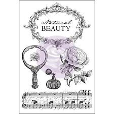 Prima Cling Stamps BELLA ROUGE 4x6 Beauty Music Mixed Media 579111
