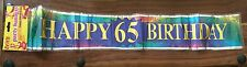 Happy 65th Birthday Banner - 65th Birthday Banner Bunting