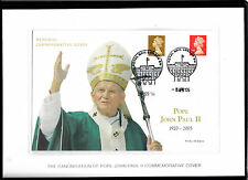 GB 2014 FDC Canonisation Pope John Paul II 2v Set Commemorative Cover Limited Ed