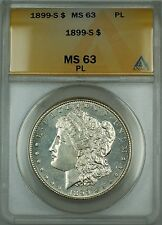 1899-S Morgan Silver Dollar $1 ANACS MS-63 PL (DMPL Better Coin)