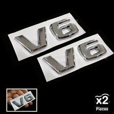 [2858US] 2x V6 MB 3D Chrome Car Badge Decal Emblem Trunk Side Logo Replacement