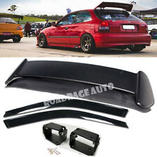 96-00 Civic EK4 EK9 Type R Style Rear Trunk Spoiler Wing Kit + Window Rain Visor