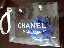 Chanel Makeup Cosmetic Bag Clear Plastic New