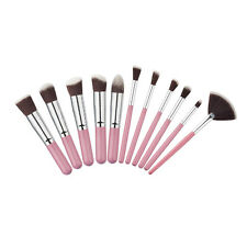 11Pcs Kabuki Cosmetic Eyebrow Eyeshadow Brush Makeup Brush Sets Kits Tools R3