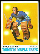1970 71 TOPPS HOCKEY 105 BRUCE GAMBLE EX-NM TORONTO MAPLE LEAFS FREE SHIP TO USA