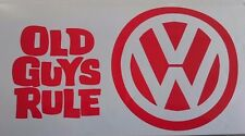 vw logo old guys rule surfing T4 T5 T25 transporter campervan car sticker 110mm