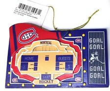 Montreal Canadiens Scoreboard Polystone Ornament NEW with Tags/