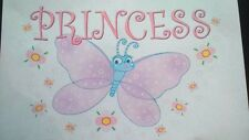 PRINCESS BUTTERFLY A5  IRON ON T SHIRT TRANSFER