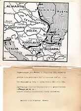 Original Press Photo of Map of Russia Invasion of Eastern & Central Europe
