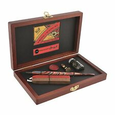 MANUSCRIPT DELUXE WRITING & SEALING WOODEN BOX GIFT SET DIP PEN WAX SEAL 4604