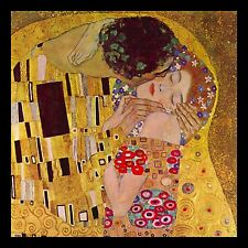 "Gustav Klimt El Beso 10x10 ""Canvas Pop Art Print"