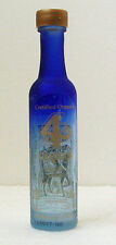 4 COPAS Anejo TEQUILA EMPTY MINIATURE BOTTLE - Handcrafted Ed No Contents - Rare