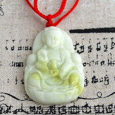 Chinese Hand Carved Jade Goddess Guanyin Pendant / Charm