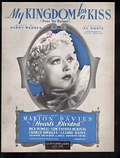 My Kingdom for A Kiss 1936 (Hearts Divided) Marion Davies Dick Powell