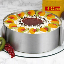 Circle Mousse Ring Bake Tool Set 6-12inch Retractable Stainless Steel Cake Mould
