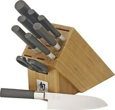 NEW KERSHAW WBS1010 WASABI 10 PIECE KITCHEN KNIFE CUTLERY SET WITH BLOCK