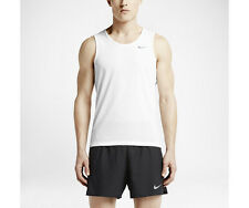 New NIKE TOP Size L/ DRI-FIT MEN'S RUNNING TANK COOL TAILWIND/White/Gym/Fitness