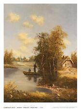 A. Franke Dorfweiher Poster Kunstdruck Bild 44x33cm - Kostenloser Versand