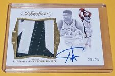 Giannis Antetokounmpo 2015-16 Flawless 2-Color Bucks Patch On-Card Auto #20/25