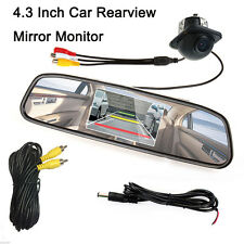 "Parking System 4.3"" LCD Color Car Mirror Monitor + Night Vision Rearview Camera"