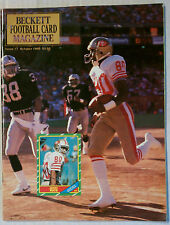BECKETT PRICE GUIDE #7 OCTOBER 1990 JERRY RICE 48ERS VINTAGE MAGAZINE NFL NBA ML
