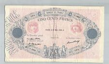 FRANCE 500 FRANCS BLEU ET ROSE 31 MARS 1932 Y.1809 N° 45222394 PICK 66L
