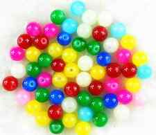 100Pcs 6mm Mixed Color Czech Opaque Solid Glass Pearl Round Spacer Loose Beads