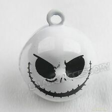 5pcs 270061 White Skull Charms Jingle Bells Fit Halloween/Party Free Shipping