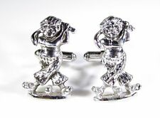 Silver Tone Cufflinks with Swinging Golfer by Hickok
