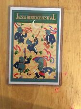1982 New Orleans Jazz Fest Poster Postcard 8th Stephen St. Germain