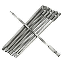8 In 1 Length 150mm Magnetic Torx Security Electric Screwdriver Bit Set T8~T40