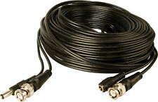 60Ft (60 Feet) All-In-One Video and Power Cable, Black, BNC/RG59 + DC, 60 ft BNC