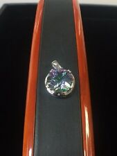 Beautiful 14kt White Gold and Mystic Topaz Pendant, Signed B & M