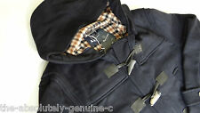 AQUASCUTUM Hooded Duffle Coat Jacket NAVY BLUE Made UK sz 40 BNWT