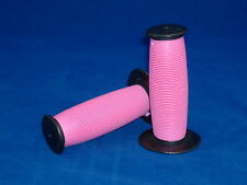 PINK & BLACK MUSHROOM GRIPS LOW RIDER BEACH CRUISER BICYCLE KIDS BIKE GRIPS