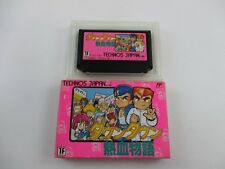 Downtown Nekketsu Monogatari with box Famicom FC NES Japan Ver Kunio Kun