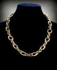Elegant 18k Gold Plated Chunky Link Chain Heavy Choker Necklace Unisex Jewelry