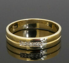 9 carats Alliance Diamant Or Jaune 'I LOVE YOU' portant (Taille O) 4mm Large