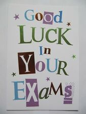 WONDERFUL COLOURFUL GOOD LUCK IN YOUR EXAMS GREETING CARD