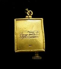Antique Handmade 14k Gold Music Box mechanical wind up Pendant Happy B-Day Song