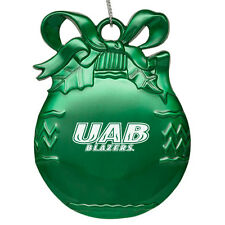 University of Alabama at Birmingham - Pewter Christmas Tree Ornament - Green