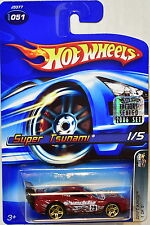 HOT WHEELS 2006 DRIFT KINGS SUPER TSUNAMI #051 RED FACTORY SEALED
