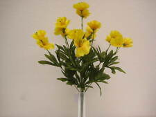 "YELLOW Poppy Bush Artificial Silk Flowers 18"" Bouquet 9-6130YL"